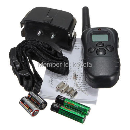 2PCS/lot 100LV Level 300meter Electronic Shock Vibra LCD Display Remote Control Pet Dog Training Collar 998D For 1 Dog(China (Mainland))