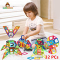 32PCS Regular Enlighten Bricks Educational Magnetic Designer Toy Square Triangle DIY Building Blocks Bricks Toys for