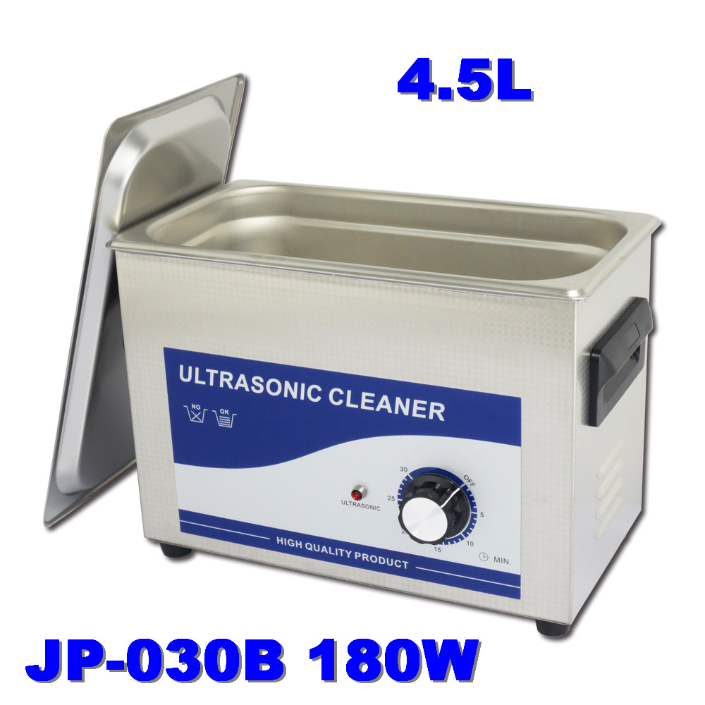 Electric Workshop JP-030B Ultrasonic Cleaner 180W Power Control 4.5L Stainless Steel Cleaning Machine Ultrasonic(China (Mainland))