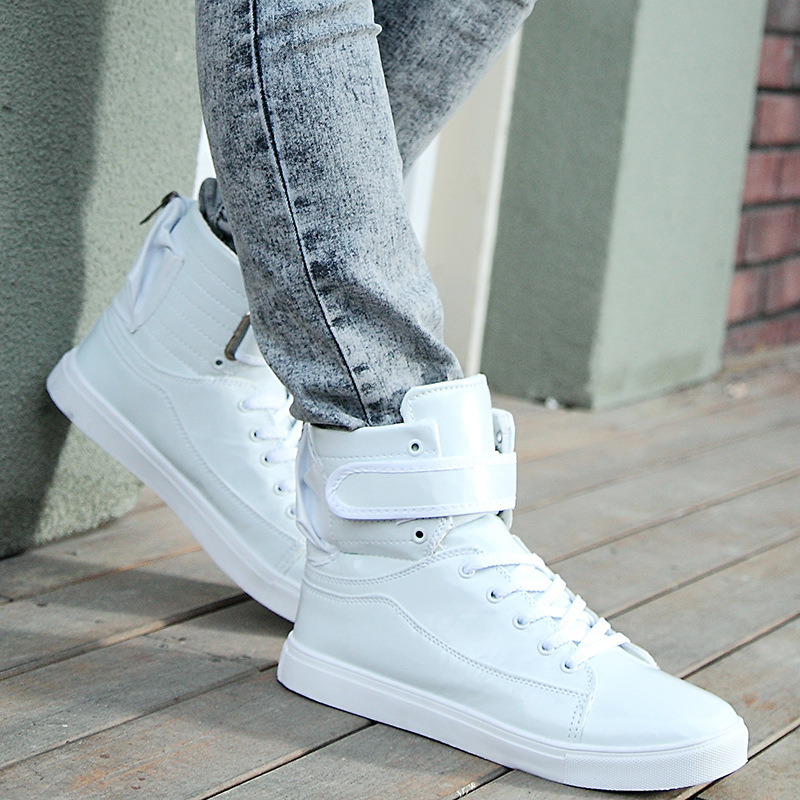 2016 spring fashion men casual shoes hip hop leather high