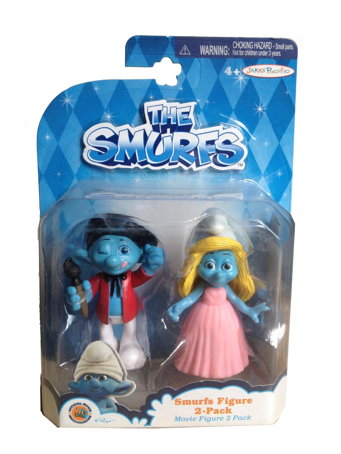 smurfette toys hands doll ornaments gargamel model toy doll gift Movies drawing figure version of double combination(China (Mainland))