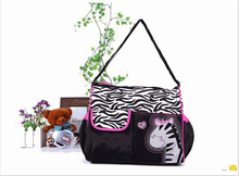 Brand New large Capacity Mummy Mags Hot Sale Cartoon Pattern Multi Function Baby Diaper Bags Tote Organizer Nappy Bolsas H1317(China (Mainland))