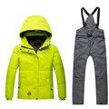 Embroidery Flowers New Kids Ski jacket pant set Windproof Waterproof Outdoor Sport Wear Skiing Snowboard Suit