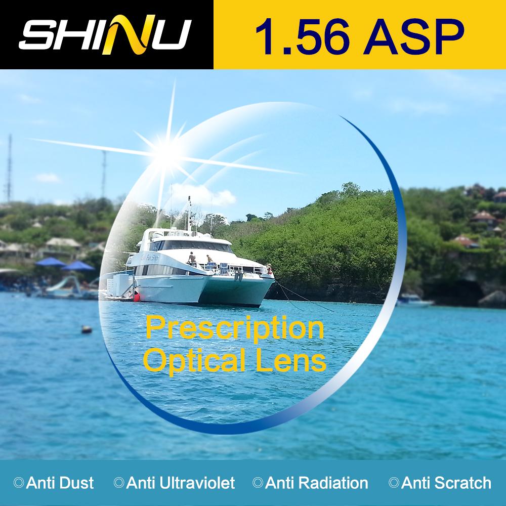 SHINU Wholesale 20pcs 1.56 prescription lenses aspheric HC TCM UV resin eyeglasses lenses for myopia or reading glasses SH1001