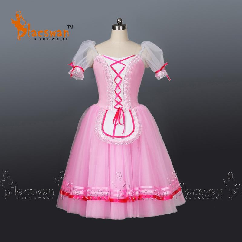 Pink Romantic Ballet Tutu Girls Giselle Dress Children Adult Peasant Girl - Guangzhou Blacswan Dance & Activewear Co., Ltd. store