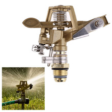 LS4G Garden Irrigator 1/2 Inch Connector Copper Rotate Rocker Arm Water Sprinkler Spray Nozzle Watering Farm Rotating Sprinkler(China (Mainland))