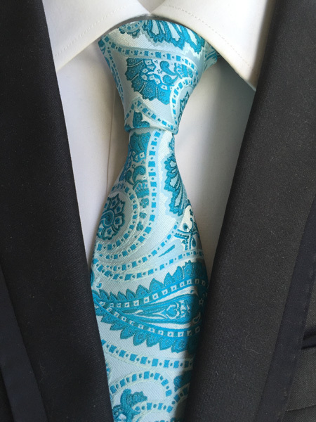Blue Paisley Ties(china