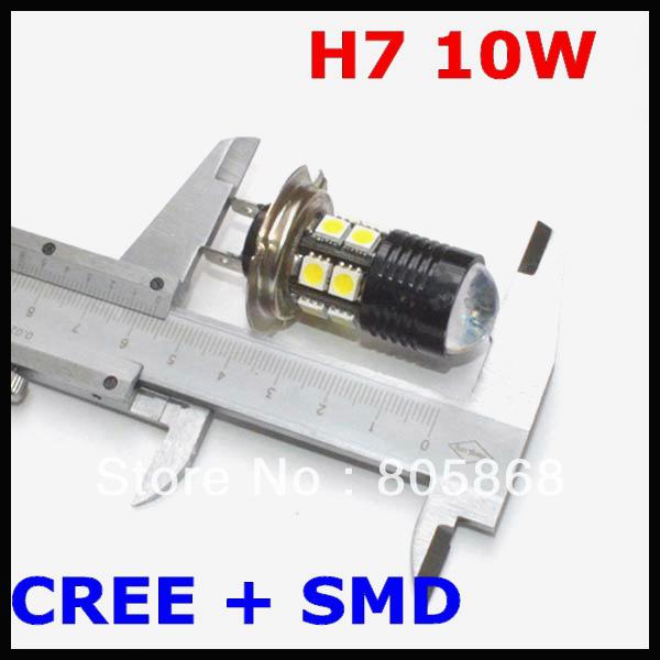 H7 LED Fog Light, Headlight, CREE Fog Lamp, Q5+ 12 SMD=10W Fog Light Car Led Bulb H7,H8,H9,H10,H11,9005,9006