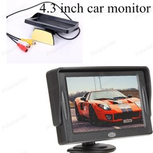 for Rear View Camera Parking digital Fold-able 4.3 inch TFT Color LCD small display for Camera Rearview Mirror Car Monitor(China (Mainland))