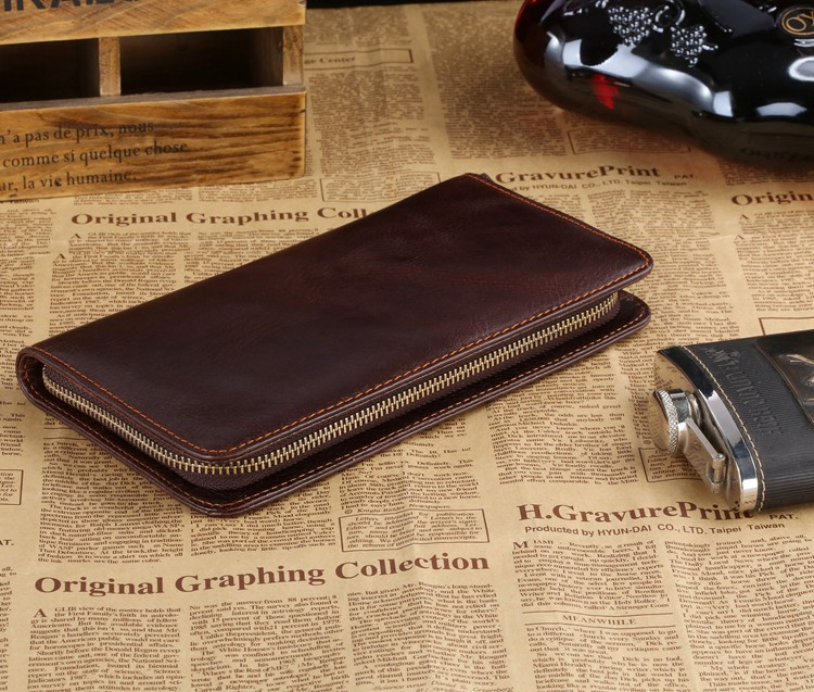 Здесь можно купить  Free Shipping High Quality JMD Coffee Color Genuine Cow Leather Men Clutch Purses Wallets Clutch Bags Credit Card Holder #8022C  Камера и Сумки