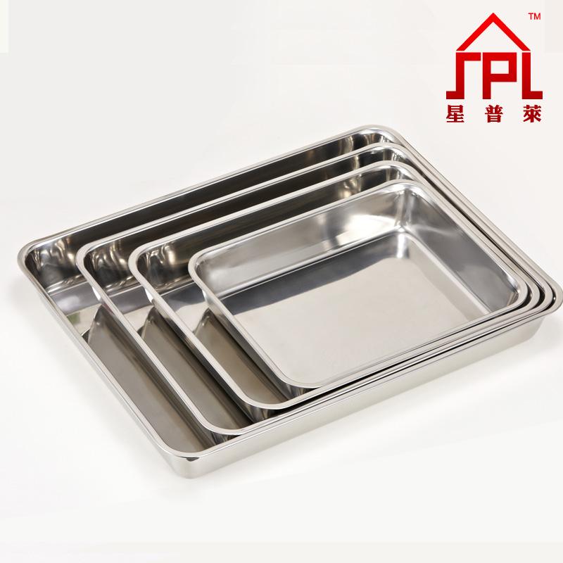 Engrosamiento de acero inoxidable bandeja cuadrada - Placa de acero inoxidable ...
