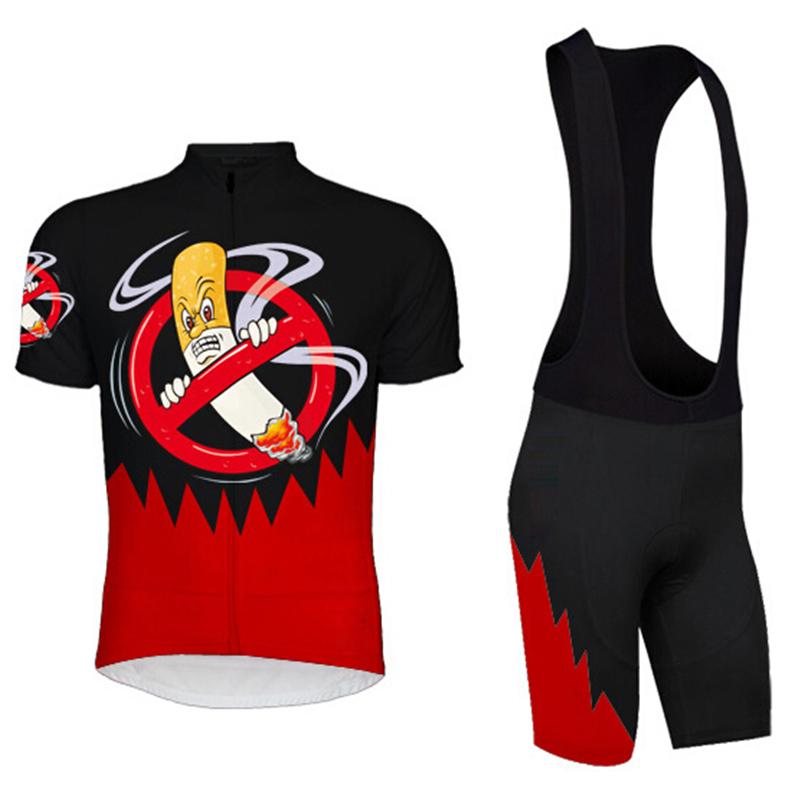 2016 Cycling Jersey men short sleeve team bike clothing NO SMOKING print quick dry maillot ciclismo wear MTB jerseys(China (Mainland))