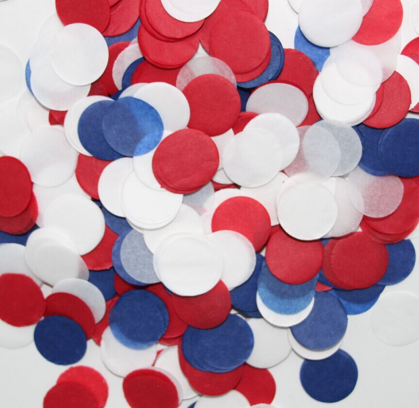 2 Inch 5cm Navy Blue Red And White Birthday Decorations