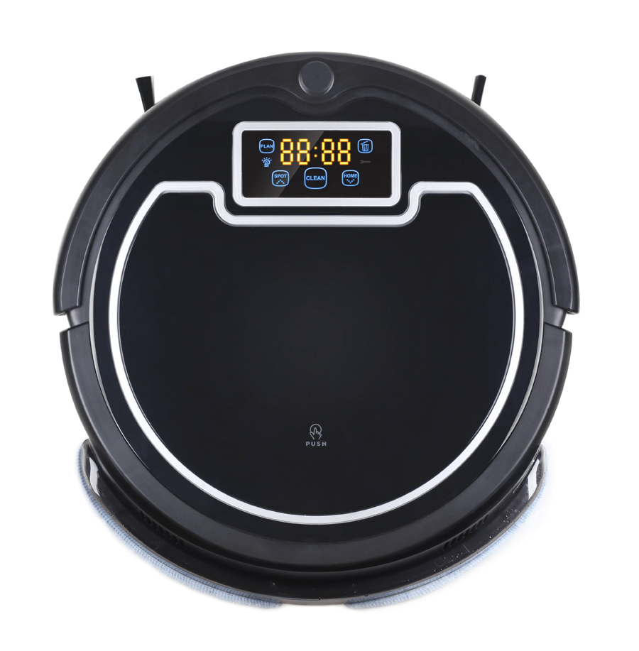 Free Shipping Automatic Robot Vacuum Cleaner With Water Tank ,Wet and Dry Mopping,Schedule,Virtual Wall,UV Lamp(China (Mainland))