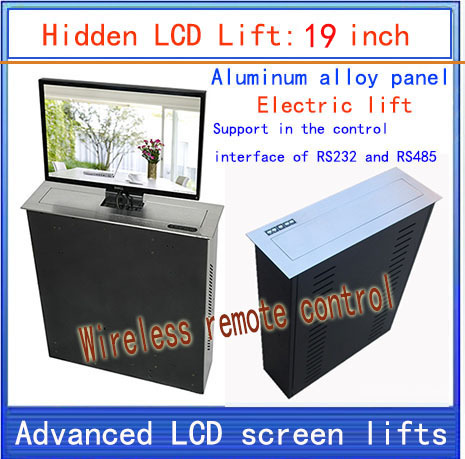 LCD, TV Lifter \ hidden \ Monitor Lifts \ lift bracket \ LCD electric lift \ wireless remote control movements \ 19-inch lift(China (Mainland))