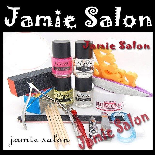 Professional Full Set Acrylic Nail Art Kit Combo Manicure Polisher / Brushes  #G59