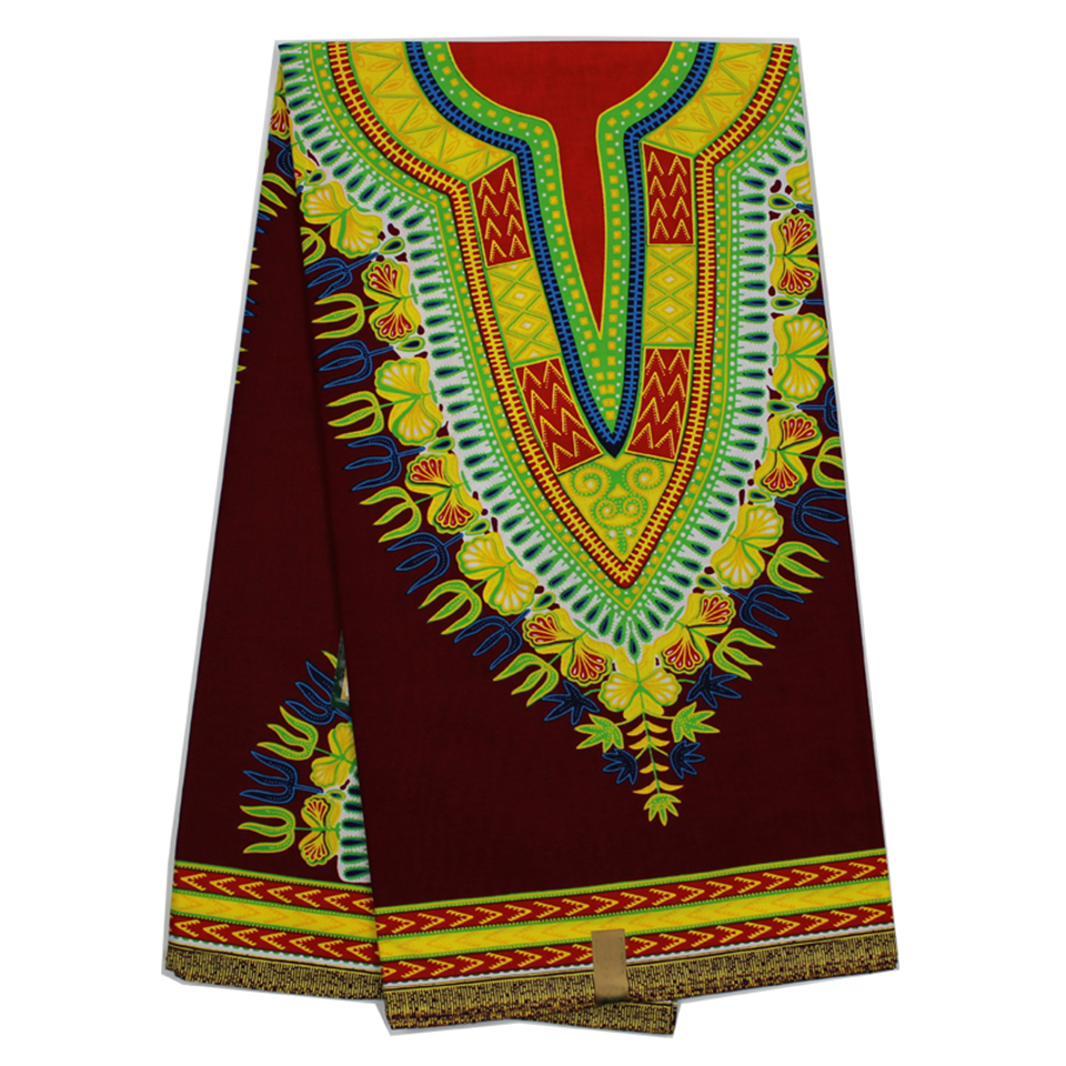 YBGDK-9 Brown Dashiki fabrics, African Maxi Skirt clothing 6 yards angelina fabric for African traditional dress