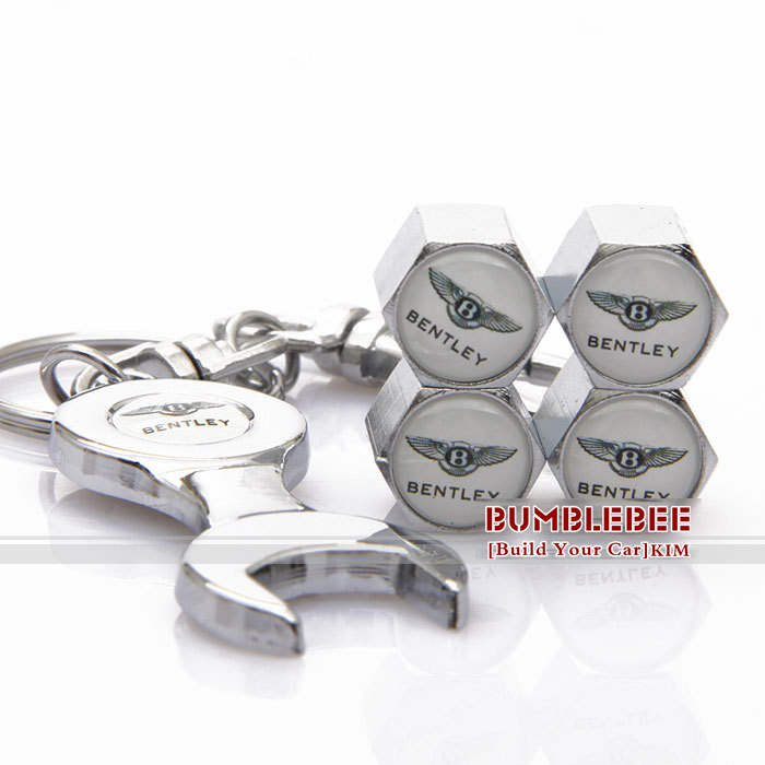 !(4PCS)metal Tire Valve Stem Caps easy DIY decoration,Car Logo emblem BENTLEY,VC245-GX - Car power Online Store 722192 store