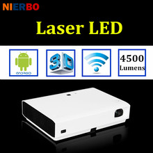 NIERBO HD Projector 3D Laser 1080P Android Projector LED Wifi Business School 4500 Lumens Education Home Theater Beamer USB(China (Mainland))