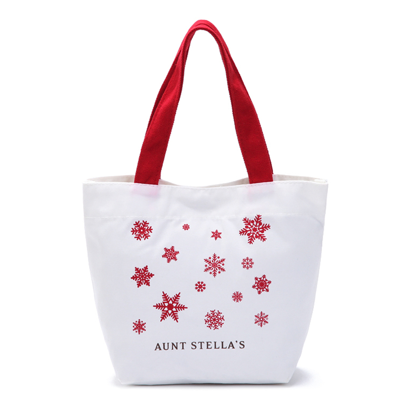 Free Shipping New Folding Canvas Shopping White Black color with Red stars Large Shopping Bag Handbags Shoulder Bag QJL015