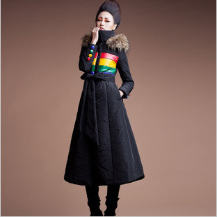 2014 Winter Womens Warm Plus Size Outerwear Longer Section Ladies Korean Slim Padded Hooded Fashion Maxi Coat - Boutique cottages store