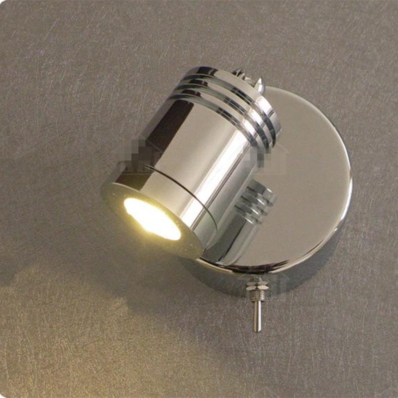 Five star hotels retrofit 3W LED Wall Reading Light/Polished Chrome/AC100 240V or DC12V 24V ...