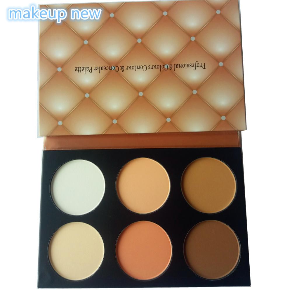 1PC 6 color Golden Diamond noble carton BALM colors Makeup Studio Fix Mineral Brand Palette Powder bronzer cosmetics set puff(China (Mainland))
