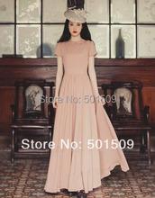 Apricot color doll /peter pan collar long medieval dress Renaissance Gown princess costume Victorian Gothic Lo/Marie Antoinette
