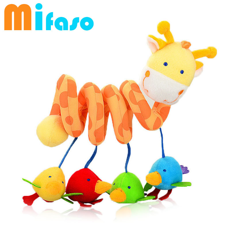 Musical Soft Plush Rabbit And Bear Baby Rattle Hanging Toy Stroller Star Hanging Rattle Mobile Products Cute Baby Toys(China (Mainland))
