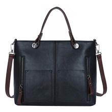 Yogodlns Vintage Tas Kulit untuk Wanita Wanita Tas Tangan Tas Bahu Kapasitas Besar Selempang Tas Kasual Top-Handle Tangan tas(China)