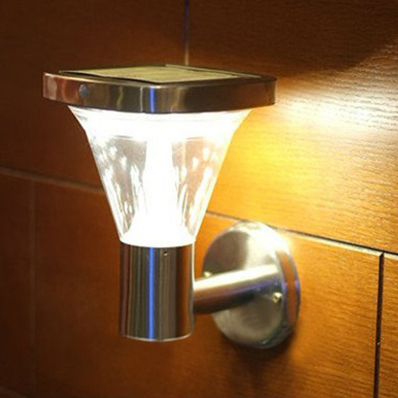 2pcs/lot 13led solar light Durable stainless steel PIR Motion Sensor wall lamp led solar light ...