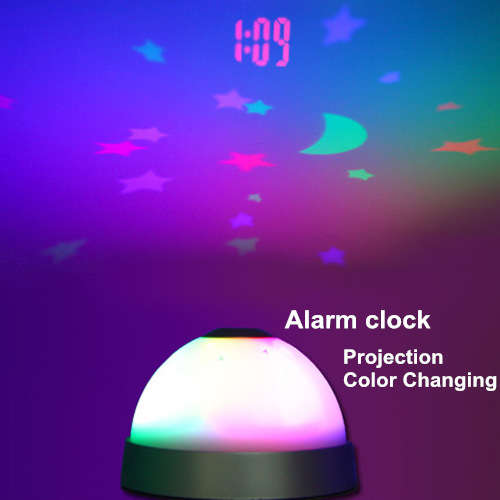 6 pcs/Lot Digital alarm clock Color changing Projection Starry night Desk table clock home decoration Novelty household 5022(China (Mainland))