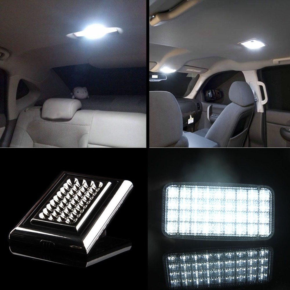 Fashion White 36smd Car Auto Roof Dome Ceiling Interior Atmosphere LED Light Lamp 12V Universal(China (Mainland))