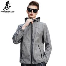 Pioneer Camp 2017 Новое поступление Мужская спортивная куртка защитный материал от солнца прямой модель новый бренд AJK707002(China (Mainland))