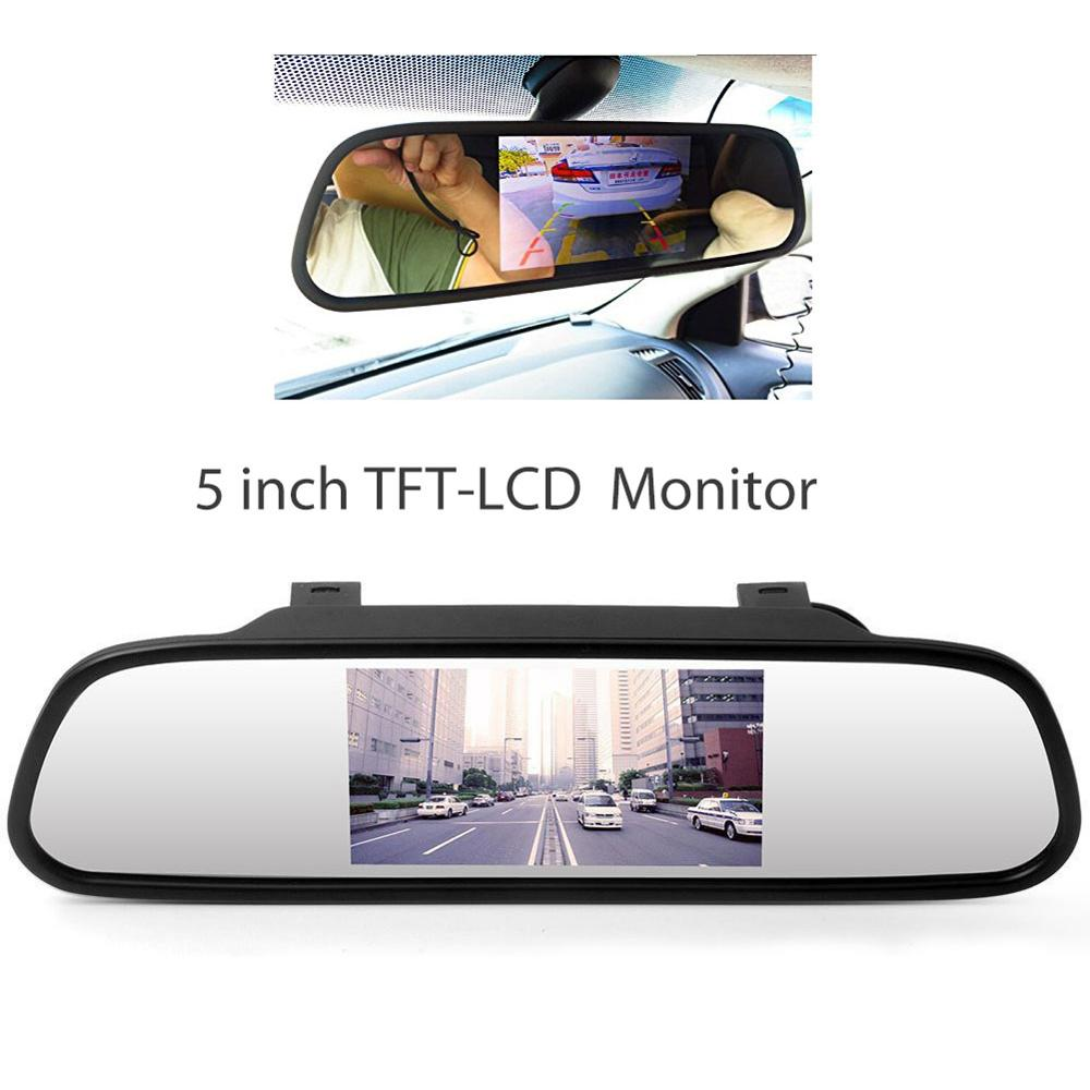 5'' HD TFT LCD Car Monitor with 2 Video Input Car Rearview Reversing Parking Monitor LCD Display for Car Rear View Camera