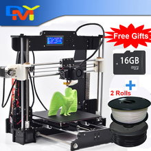 Hot sales Size 225*225*200mm High Quality Precision Reprap Prusa i3 DIY 3d Printer kit with 1 Roll Filament 8GB SD card and LCD