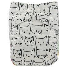 Ohbabyka ребяческий ткань Подгузники один размер, Регулируемый Моющиеся Подгузники для новорожденных многоразовые подгузники с карманами для ...(China)