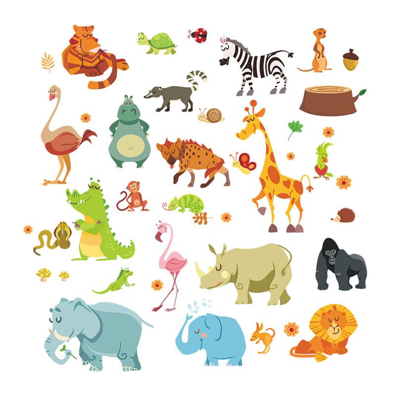 popular monkey wall decals buy cheap monkey wall decals monkey tree giraffe jungle nursery wall art stickers wall