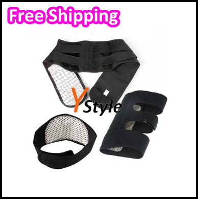Free Shipping Spontaneous Heating Massage Belt with Magnetic Therapy Function for Neck Waist Knees 3 IN 1