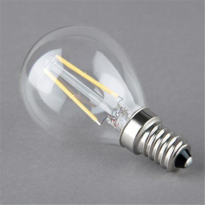 Buy Hot Sale Edison Light Bulb G45 Led Lamp E14 220v 2w 4w Dimmable Filament