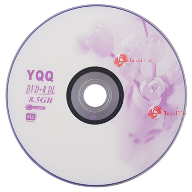Twozilla cheap! 5Pcs New 8X Blank Recordable Printable DVD+R DVDR Blank Disc Disk 8X Media 8.5GB most popular(China (Mainland))