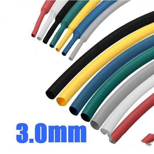 Bighorn 1 8 Inch 1M 3.0MM 7Color 2:1 Polyolefin Heat Shrink Tube Sleeving Wrap(China (Mainland))