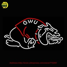 Neon Sign Gardner Webb Runnin Bulldogs NCAA Glass Tube Neon Handcrafted Recreation Room Iconic Sign Beer Signs Lighted 31X18(China (Mainland))