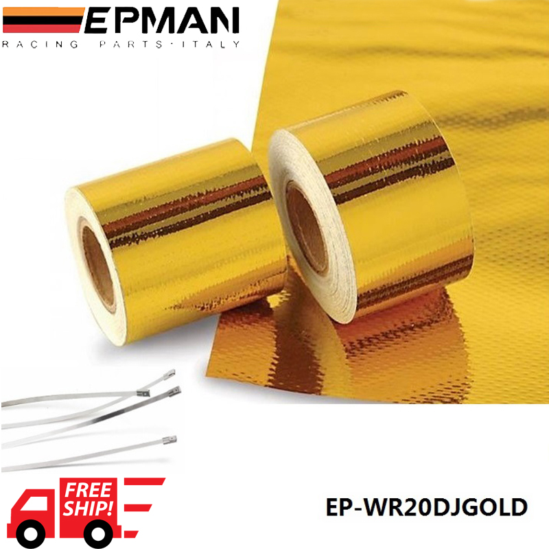 Free Shipping EPMAN 2x5 Meter Reflect-A-Gold Tape Performance Heat Protection Tape/Barrier New Arrival Best EP-WR20DJGOLD<br><br>Aliexpress