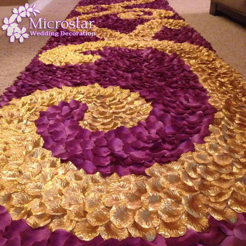 1000pcs Silk Rose Petals Table Confetti Artificial Flower Crafts Engagement Wedding Party Events Dec