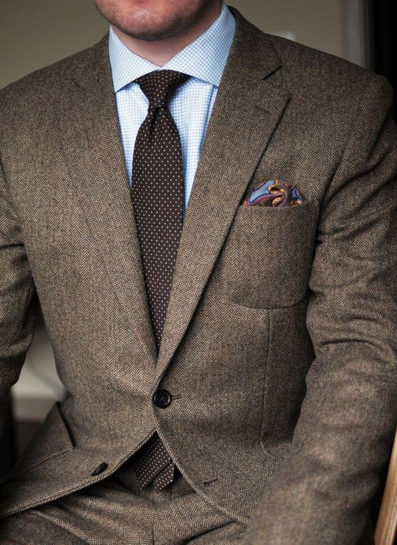 HTB1NtGwKXXXXXcLXXXXq6xXFXXXC - 2017 Dark Brown tweed blazer men Wool Herringbone British style custom made Mens suit slim fit Blazer wedding suits for men