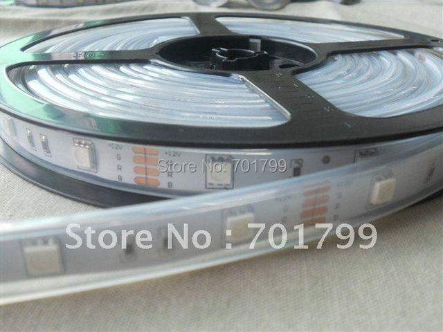 DC12V 5m(one roll) 5050 SMD 30LEDs/m led strip,waterproof by silicon tube,IP66