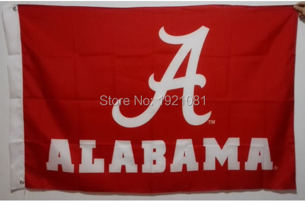 The University of Alabama Crimson USA Football Club College Flag 3'X5' custom sports Flag(China (Mainland))