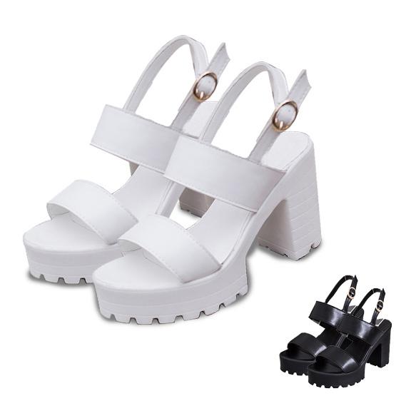 Women Sandals 2015 Summer Style Ladies Shoes Women High Heel Sandals Thick Heel Platform Sandals Women Shoes Zapatos Mujer(China (Mainland))