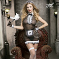 9723 Sexy French Maid Cosplay Costumes Women Exotic Lingerie Hot Sexy Maid Halloween Fancy Dress